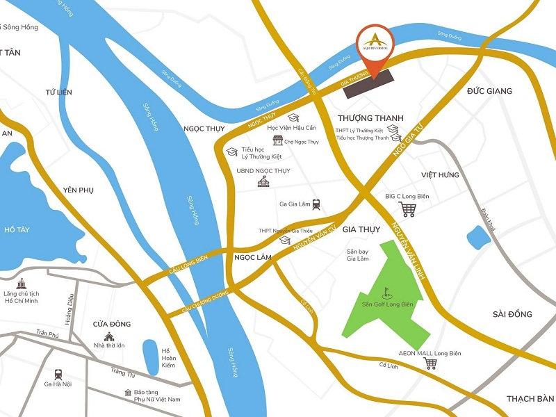 vị trí dự án AQH Riverside